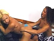 Tranny warms up blond ts