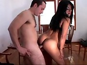 Tranny fucking on table
