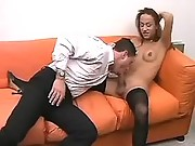 Tranny and guy enjoy oral