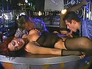 Hot orgy in nightclub