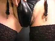 Sexy tranny teases cock