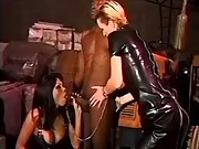 Latex shemale in orgy