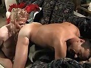 Blonde shemale fucks dude