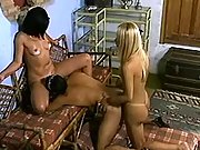 Wild transsexual lady in intense shemale sex