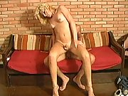 Blonde babe has some fresh cock to suck